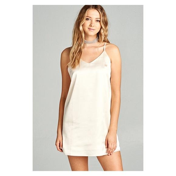 V Neck Slip Dress
